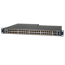 cnMatrix Switch Cambium EX2052R-P 176 Gbps throughput, 48 10/100/1000 Ports, 120 Forwarding Rate in Mpps 4 SFP+ Uplink ports